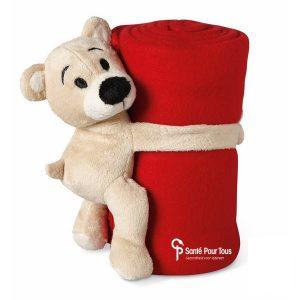 Knuffel-bedrukken-fleece-deken-klein-rood-opgevouwen